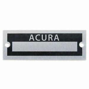 Acura Name Plate Serial Data Tag integra RDX ILX MDX TLX RLX NSX Legend RSX RL