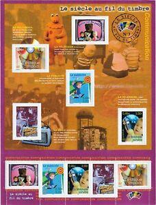 France Bloc Feuillet 2001 Neuf 35 Le siècle au fil du timbreN° III Communication