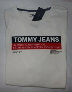 NWT MENS TOMMY HILFIGER / TOMMY JEANS S/S T-SHIRT~WHITE~XL