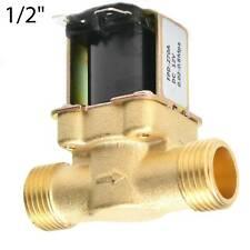 G1/2 DC 12V Magnetventil Elektrisch Wasserventil N/C Wasser Ventil Messing Neu