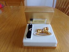 Estee Lauder Rocking Horse White Linen Solid Perfume Compact Mint in Box