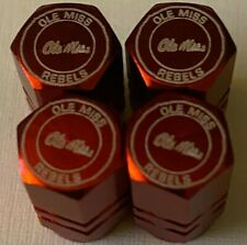 Ole Miss Rebels Chrome Engraved Tire Valve Stem caps, 4 pk,