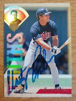 Marty Cordova Autographed 1995 Leaf  #358 Minnesota Twins