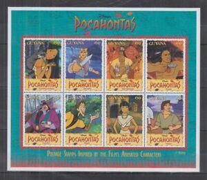 L456. Guyana - MNH - Cartoons - Disney's - Pocahontas - Postage Stamps