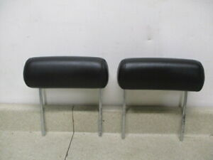 07 to 13 Chevrolet Avalanche Pair of Rear Seat Headrest Head Rest Leather OEM