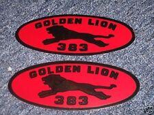 1959 CHRYSLER GOLDEN LION 383 VALVE COVER DECALS