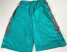 Nike Shorts Boys Medium Youth Basketball Teal Green Blue Gray Kids Athletic Gym