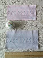 "2 Vintage Embroidered Scottie Dog Cotton Sample Fabrics~L-4"" X  W-8"""