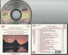 NIGHT MUSIC 6 - CLASSICAL FAVOURITES FOR RELAXING AND DREAMING CD