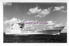 pf4401 - Norfolk Line Ferry - Duchess of Holland , built 1973 - photograph