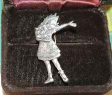 Mary Engelbreit Good to be Queen Sterling Sivler Brooch Pin 3a 17