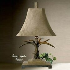 Uttermost Stag Horn Table Lamp in Natural Brown and Ivory Toned
