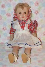"PRETTY! Vintage 18"" Nannette R&B Composition & Cloth Mama Doll"