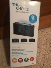 LED Digital Alarm Clock, 7 Colored Night Light, Battery Backup Alarm, Dimmer