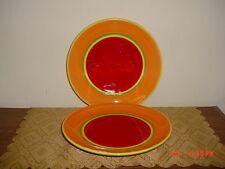 2PC DANSK  CARIBE ARUBA  10 1/2  DINNER PLATES/HAND PAINTED & Dinner Plate Yellow Dansk China u0026 Dinnerware   eBay
