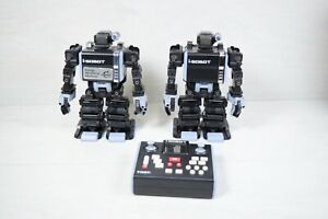 Two Collectible 2007 Tomy I-Sobot Humanoid Programmable Robots With Remote