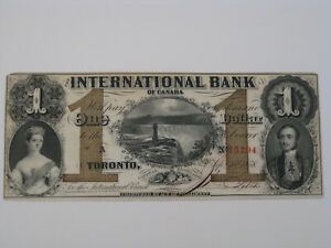 1858 $1 UNC International Bank of Canada Brown Protector 380 - 10 -08 -08 CV$500