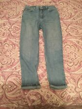 Topshop MOM High Waisted Rise Stonewash Blue Tapered Jeans Size 12 W30 L32