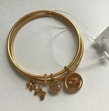 NWT Coach Horse & Carriage Coin Bangle Bracelet Set 90983 Gold