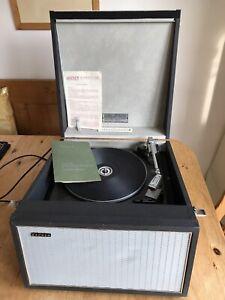 HACKER PORTABLE RECORD PLAYER - Model Gondolier GP42 - Valve Amp -1968/9 VGC FWO