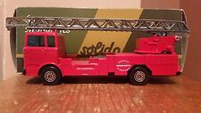 "Solido Mercedes Hook Ladder Fire Truck w/11"" Extension Ladder 1:50 Diecast, #358"