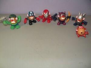 Mr Potato Head Mixable Mashable Heroes Marvel Avengers Set Near Complete