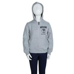 Moschino Grey Hoodie Cotton Jacket
