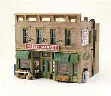 "N scale 2-Story Old Time Storefront MARKET STORE Retail Model Building "" KIT """