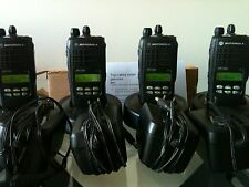 (4) MOTOROLA HT1250 VHF 136-174MHz 128ch radio AAH25KDF9AA5AN Bat Ant Charger CP