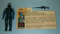 1983 GI Joe Cobra Soldier The Enemy Swivel Arm v1.5 Figure w/ File Card *READ*