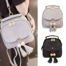 Fashion Womens Backpack PU Leather Zipper Tassel Travel Casual Shoulder  Rucksack 250ced06ff