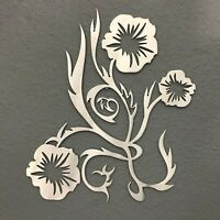 Flowers Metal Wall Art Decoration Skilwerx 12 x 9 Modern Floral 20