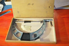 "MSC Micrometer 10"" to 11"" Outside Micrometer made in Poland Nice"
