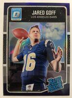 Jared Goff 2016 Donruss Optic Purple Refractor Rated Rookie Rams Golden Bears RC