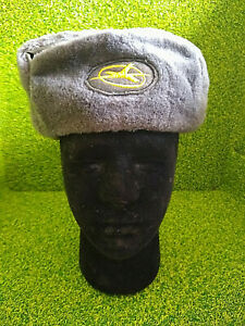 EAST GERMAN/DDR Interflug ground crew ushanka winter hat (Size 54)