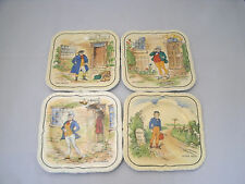 """Alfred Meakin DICKENS CHARACTER Set of 4-5"""" Bread Dessert Plate Each Different"""