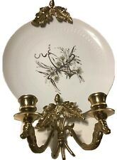 Vintage Rosenthal Studio-Line Platium & Gold Plate In A Brass Candle Holder