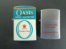 2 Vintage lighters: Oasis Cigarettes/Continental & Tallman Tool/Idealine INV2852