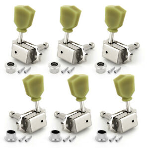 3x3 Guitar Vintage Deluxe Tuning Pegs Tuners Machine Heads For Gibson Chrome