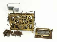 ANTIQUE MUSICAL CUCKOO CLOCK MOVEMENT w/MUSIC BOX & CHAINS - PARTS / REPAIR MX44