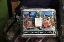 Spanish Delinquency Juvinile Gang Alchoholism vandalism tin box with lock