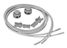 mumbi elastische Schnürsenkel Schnellverschluss Lock Schnellschnürsystem grau