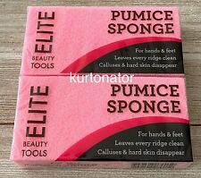 Elite by Swissco Pink Pumice Sponge Lot of 2 New & Sealed