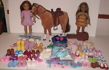 American Girl - 2 Dolls - 1 Horse - Clothing - Footwear - guitar with case - etc
