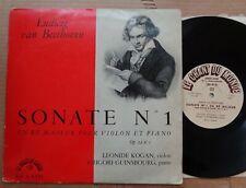 Leonid Kogan/Grigory Ginzburg BEETHOVEN Sonata No.1  Le Chant du Monde LD-A-8191