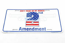 Don't Tread On My Rights! 2nd Amendment Metal License Plate Sign Tag