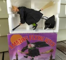 VINTAGE MAXON TOY CO AMAZING FLYING WITCH HALLOWEEN PROP BATTERY OPERATED