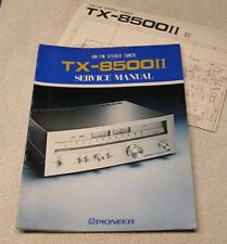 PIONEER TX 8500 II ORIGINAL SERVICE MANUAL AND SCHEMATIC
