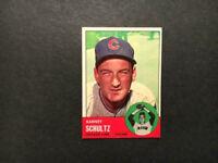 1963 Topps Baseball card #452 Barney Schultz EX+NM Cubs FREE SHIPPING