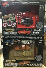 2 American Muscle Body Shop Kits: Grease & Smokey & The Bandit 1:64 Die Cast